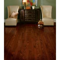 Bruce Dundee Strip Solid Red Oak Premium - Cherry Room Scene