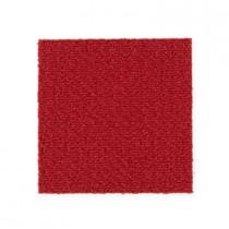 """Aladdin Commercial Color Pop Carpet Tile Scarlet 12"""" x 36"""" Premium"""